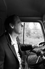 Robin driving (Mika Lehtinen) Tags: citroen hy h van 1969 truck ice cream icecream jakobstad finland skorpan cafe icecreamtruck