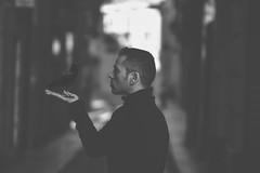 DARK SIDE (oroyplata.) Tags: street bw selfportrait black dark photography darkness negro fine surreal explore lado crow conceptual cuervo selfie oscuro oroyplata