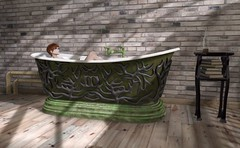 Steaming Up My Second Life (satorimarat) Tags: home secondlife decorating bathtub decor furnishings steampunk chimia