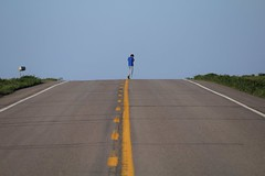 Why did the student cross the road? (viktrav) Tags: road lines line northdakota yellowline ruralroad donotpassline