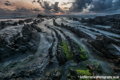 Barrika (GuyBerresfordPhotography.co.uk) Tags: sunset sea cloud seascape night landscape coast spain rocks europe long exposure european dragon dusk famous spanish scales basque waterscape barrika biscay