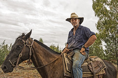 the drover (Fat Burns  (on/off)) Tags: portrait drover horse jericho droving drought nikond610 nikon160350mmf40