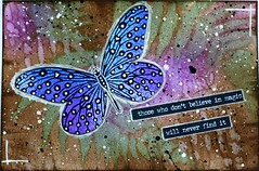 ICAD # 23 Magic (clayangel_sc) Tags: artcards art doodles indexcardaday icad aceo ooak draw indexcards butterfly mixedmedia