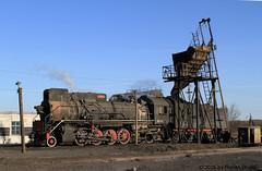 I_B_IMG_7379 (florian_grupp) Tags: china railroad train landscape asia mine desert muslim railway steam xinjiang mikado locomotive ore js steamlocomotive 282 opencastmine yamansu