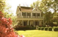 ~The House Behind The Fence~ (MaryLou1298) Tags: house fence azaleas porch easterweek raymondmississippi