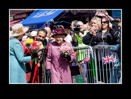 Local residents meet Her Majesty The Queen at Windsor Guildhall-105