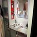 イケアの家具で作る洗面台の写真