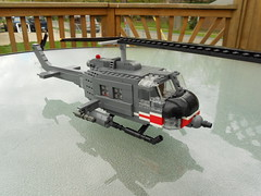 UH-1C Gunship (Brickmania kit mod) (Justsuper9) Tags: fall point liberty war force lego air united attack battle vietnam helicopter viet states combat turning gunship iroquois cong uh1h brickarms uh1c brickmania