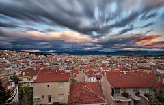 Clouds passing by... (Nick-K (Nikos Koutoulas)) Tags: city west clouds long exposure nikos macedonia 400 nd hoya nd400 ksenia         koutoulas