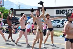 QUAC, Utah Pride Parade 2012 (brycewgarner) Tags: gay america utah pride parade saltlakecity lgbt speedo quac d90 nikonafsdxnikkor1685f3556gedvr prideparade2012