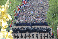 Crowds On The Mall for Queen´s Diamond Jubilee Celebrations