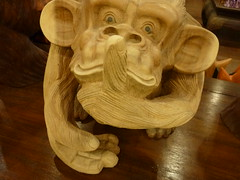 Silence Is The Stillness Within. (1000 Reasons - Happy New Year!) Tags: life toy monkey truth lies silence sarawak mind stillness kuching woodcarving communicate within silenceisgolden absenceofsound thetremeleos
