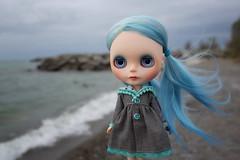 Sailing Away (jessi.bryan) Tags: trip beach doll blythe gbaby customblythe colonelsamuelsmithpark wingsinflight blythejacket gbabycustom