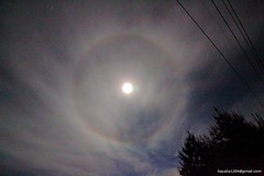 22 halo around the Moon  ((Chiahui Wang)) Tags: moon halo