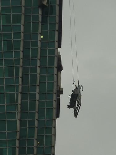 101大樓怎麼洗外觀?就這樣洗。