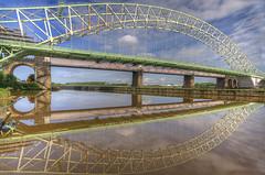 Runcorn - Widnes Bridge (Jeffpmcdonald) Tags: uk runcorn widnes silverjubileebridge britanniabridge runcornwidnesbridge nikond7000 jeffpmcdonald june2012 ringexcellence ethelfledabridge flickrstruereflection1