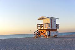 early morning (dasar) Tags: ocean morning beach dawn miami lifeguard