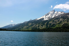 Vibrant (andrewpug) Tags: blue mountain lake snow green beautiful top wyoming jacksonhole jennylake