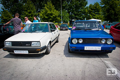 "VW Golf Mk1 Cabrio and Jetta Mk2 • <a style=""font-size:0.8em;"" href=""http://www.flickr.com/photos/54523206@N03/7181017355/"" target=""_blank"">View on Flickr</a>"