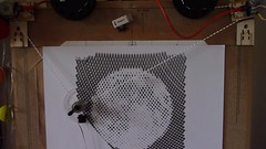 Spiral pixels (Euphy) Tags: art robot drawing machine pixel plotter arduino polargraph