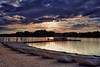 on golden pond (dK.i photography) Tags: sunset germantown beach water clouds canon boats golden day glow cloudy dusk maryland shore filters boyds bwcpl 5dmkii singhrayrgnd blackhillregioanlpark