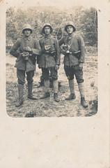 Elite German troopers of a Maschinengewehr-Scharfschützen-Abteilung, 1917 (Paranoid_Womb) Tags: soldier army war postcard military wwi rifle helmet german weapon imperial worldwarone ww1 greatwar worldwar bayonet
