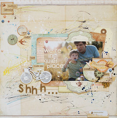 sh.we're in quiet place. (ania-maria) Tags: summer boys scrapbooking bubbles crayons prima annamaria scrap primamarketing fabercatell aniamaria