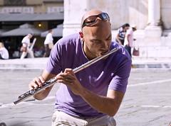 Street musician (Frank Fullard) Tags: street portrait italy musician italia candid lucca flute tuscany busker tuscania flautist fullard frankfullard