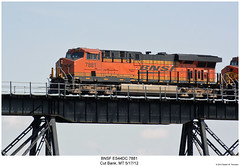 BNSF ES44DC 7881 (Robert W. Thomson) Tags: railroad trestle bridge train montana diesel railway trains trainengine ge bnsf locmotive burlingtonnorthernsantafe cutbank es44dc gevo es44 evolutionseries sixaxle cutbankcreek