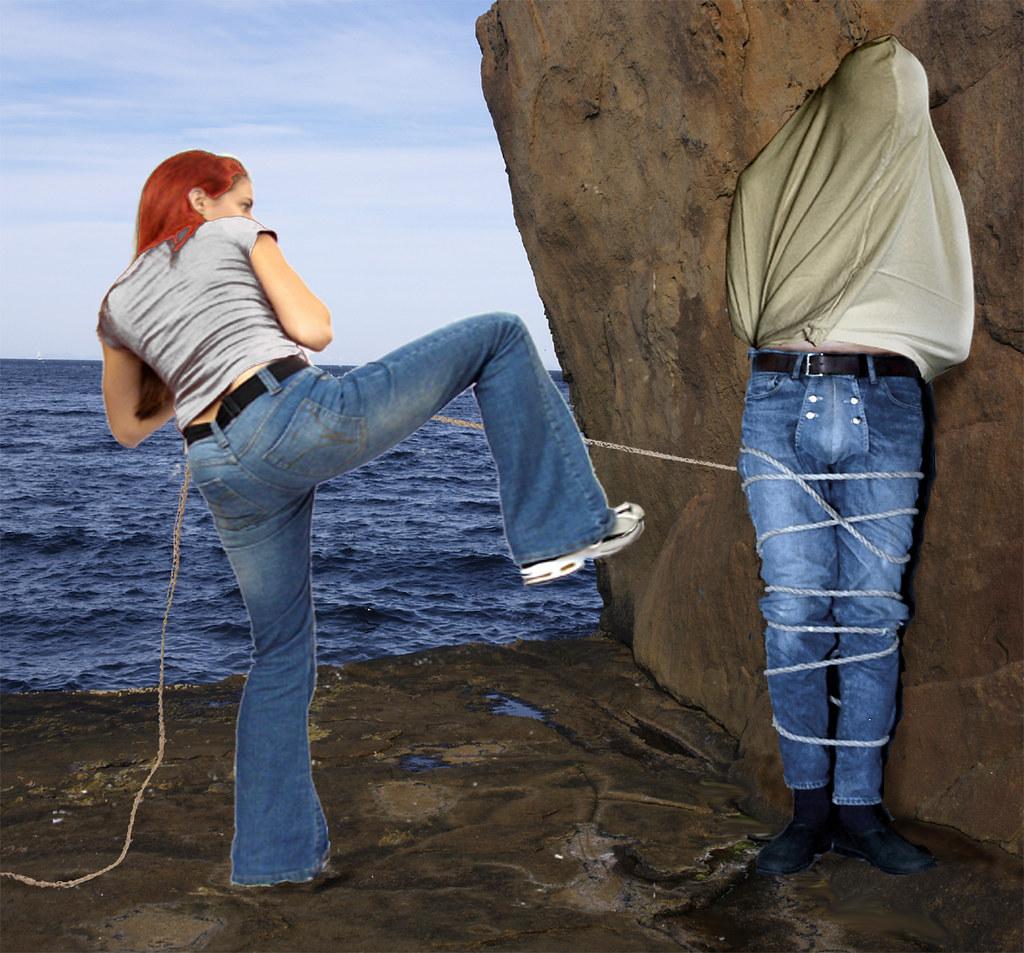 Like Perseus and Andromeda (A. Burlefot) Tags: bondage bdsm jeans