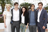 Kirsten Dunst, Sam Riley, Kristen Stewart, Walter Salles 'On the Road' photocall during the 65th Cannes Film Festival Cannes, France