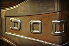 vintage dodge nameplate ..... (ana_lee_smith) Tags: door toronto macro heritage wheel truck vintage lens handle photography rust downtown steering district details historic 1940s beercan chrome area damage dodge windshield cracks distillery nameplate portlands gooderhamworts thedistillery analeesmith minoltaaf70210mm sonyalphaslta33