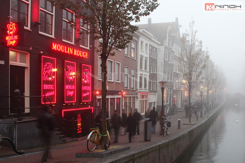 Moulin rouge - Red light district - Amsterdam