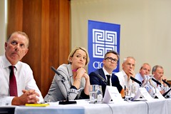 Panelists at the Cicero Banking Report launch (CiceroComms) Tags: banking financialsector laurakuenssberg cicerobankrep ciceroconsulting cicerogroup retailbanks