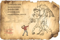 secret scroll (☼ Helder) Tags: selfportrait me monster ancient secret knowledge challenge scroll 52weeks teleidoscope