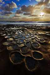 La Jolla Potholes (boingyman.) Tags: ca sunset seascape reflection clouds canon landscape sandiego lajolla getty scape 1022 potholes foreground waterscape gettyimage t2i boingyman