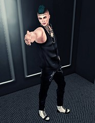 Midnight. (Rgd Svg) Tags: male men art fashion shirt hair beard photography fly blog belt cool artwork graphics shoes avatar style mandala blogger avi fresh tattoos clothes sl lap secondlife mens bleak trend dope gangsta swag judas blessed hunt appearance sbs tats jcruz styleblog ddl moh2 juliancruz lookoftheday soulbeats rawhouse menonlyhunt jcruzandlvl