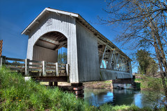 Gilkey Bridge (sandyhd) Tags: day clear oregoncoveredbridges gilkeybridge