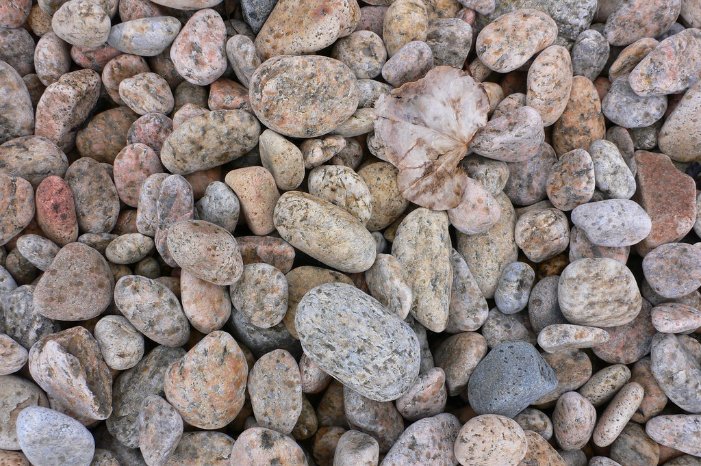 Pebbles on Fermain Beach, Guernsey