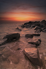 Sunset :  (Sakhr Abdullah) Tags: sunset red sea seascape clouds landscape rocks national jeddah geographic