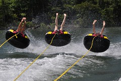"""Air !!"" (""On the Rox"") Tags: waterskiing watersports tubing slalom lakemartin slalomcourse"