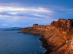 Kilt Rock dawn (the other way) (DavidO'Brien) Tags: skye film pentax67 klitrock velvia2012skye
