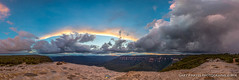 Jamison Pano Sunset from Lincolns Rock 3 (Gary Hayes) Tags: sunset panorama storm sydney australia bluemountains lincolnsrock
