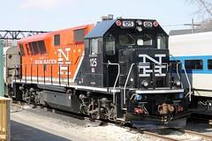 New Haven 125 BL20GH (Conrail1978) Tags: new railroad haven train ct nh danbury unit 125 brookville bl20gh