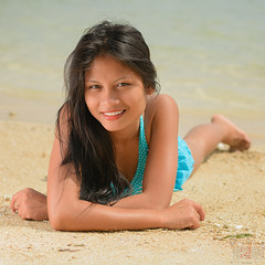 Liezel at the beach #3 (id-image) Tags: ocean sea sun sexy beach water girl beauty lady bokeh bikini filipina phl philippinen negrosoccidental sipalay