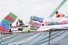 Where Am I Going to Put All This? - 7h July 2015 (princetontiger) Tags: boat kenya rope cargo load loading