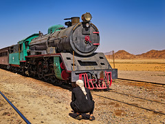 Jordan Railroad (kevinwenning) Tags: railroad train desert wadirum tracks engine jordan sheikh bedouin wenning kevinwenning intentionallylostcom