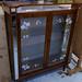 Retro teak glass cabinet