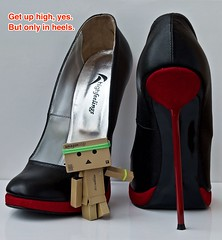 Get Up High, yes. But only in heels.  (Damien Saint-) Tags: woman toy amazon shoes pumps highheels vinyl mode yotsuba danbo revoltech danboard