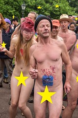 The leave your clothes behind Party (Le monde d'aujourd'hui) Tags: world england bike june naked funny brighton ride protest worldnakedbikeride wnbr euflag 2013 brexit